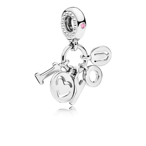 PANDORA I Love You Charm-Anhänger 796596FPC