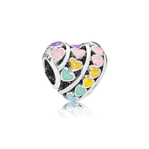 PANDORA Multi-colour Hearts Charm 797019ENMX