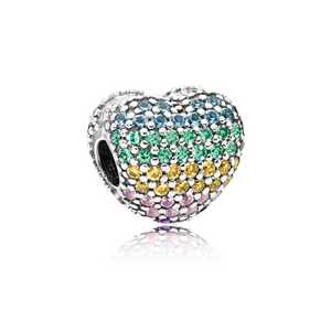 Pandora Multi-colour Pavé Open My Heart 797221NRPMX