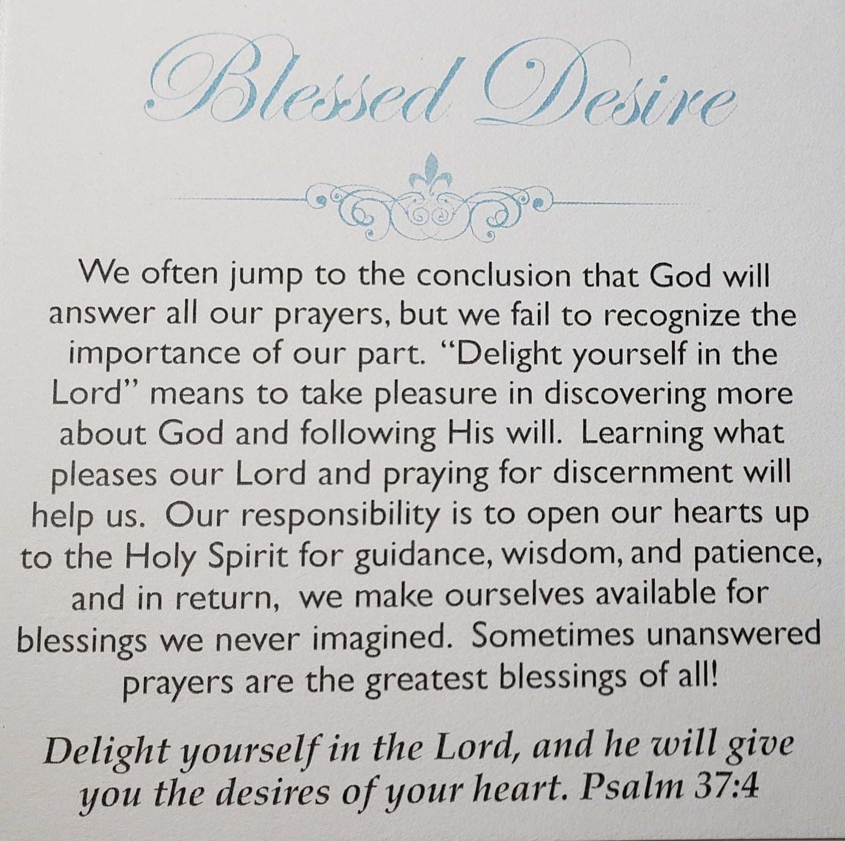 Blessed Desire