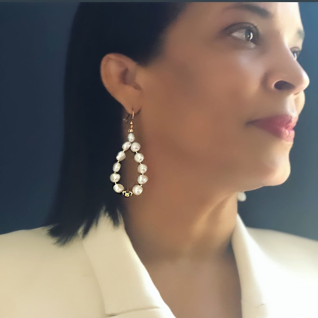 His Grace Earrings (white)