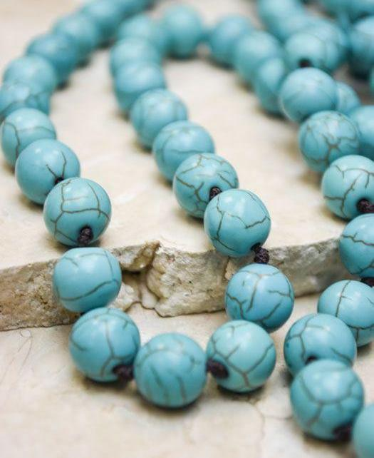 Crackled Turquoise Necklace