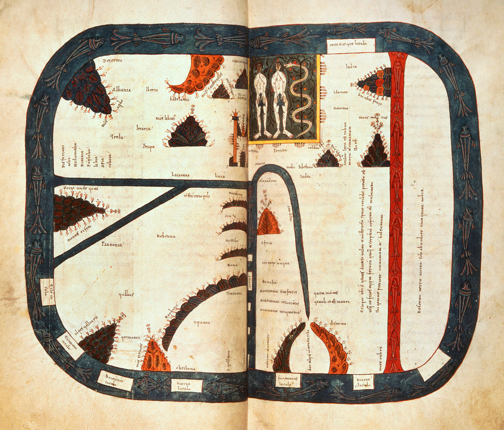 Detail of Beatus world map by Petrus