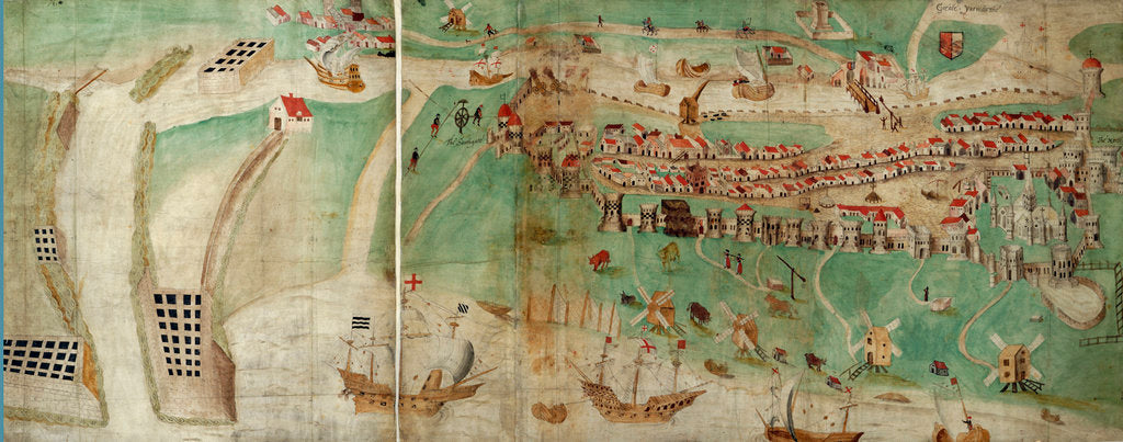 Detail of Picture map of Great Yarmouth by Petrus