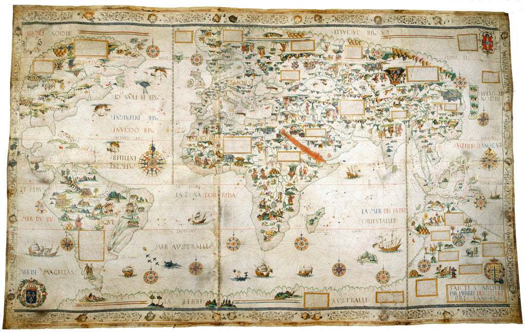 Detail of Map of the World by Pierre Desceliers