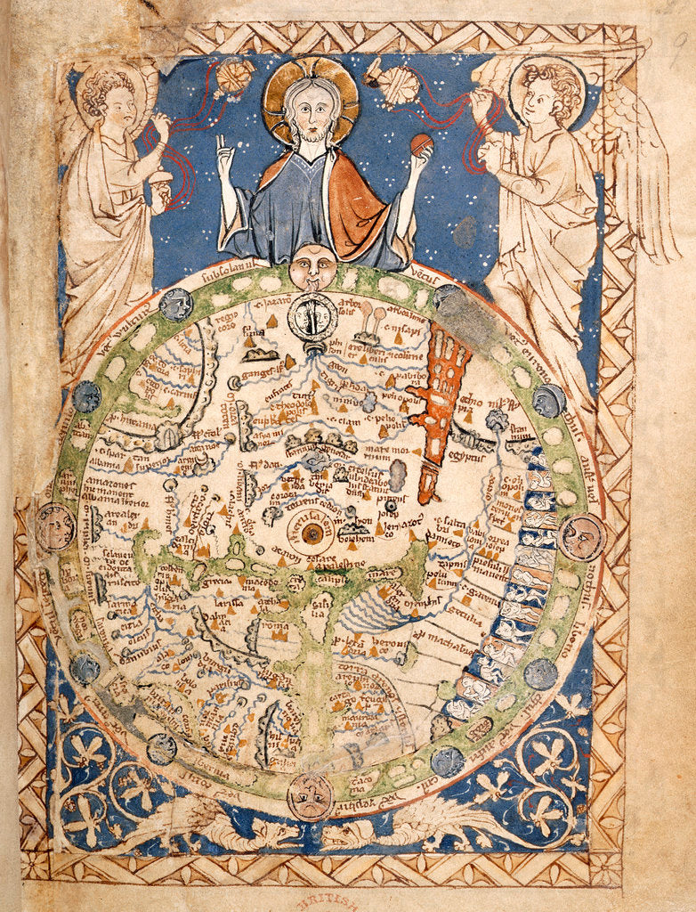 Detail of Psalter World Map by Anonymous