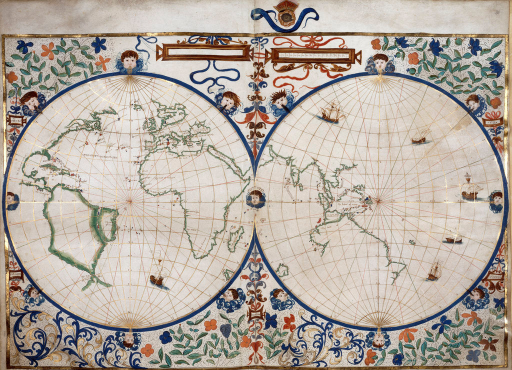 Detail of World map by Anonymous