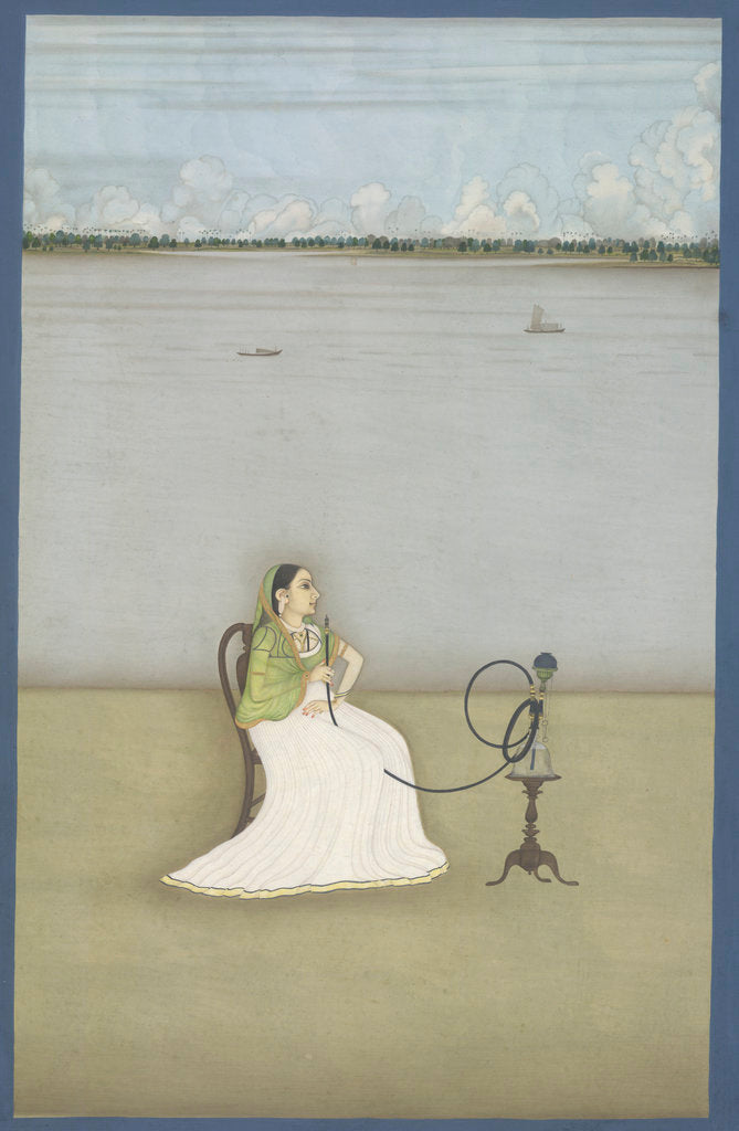 Detail of Muttubby, mistress of Ashraf 'Ali Khan by Dip Chand