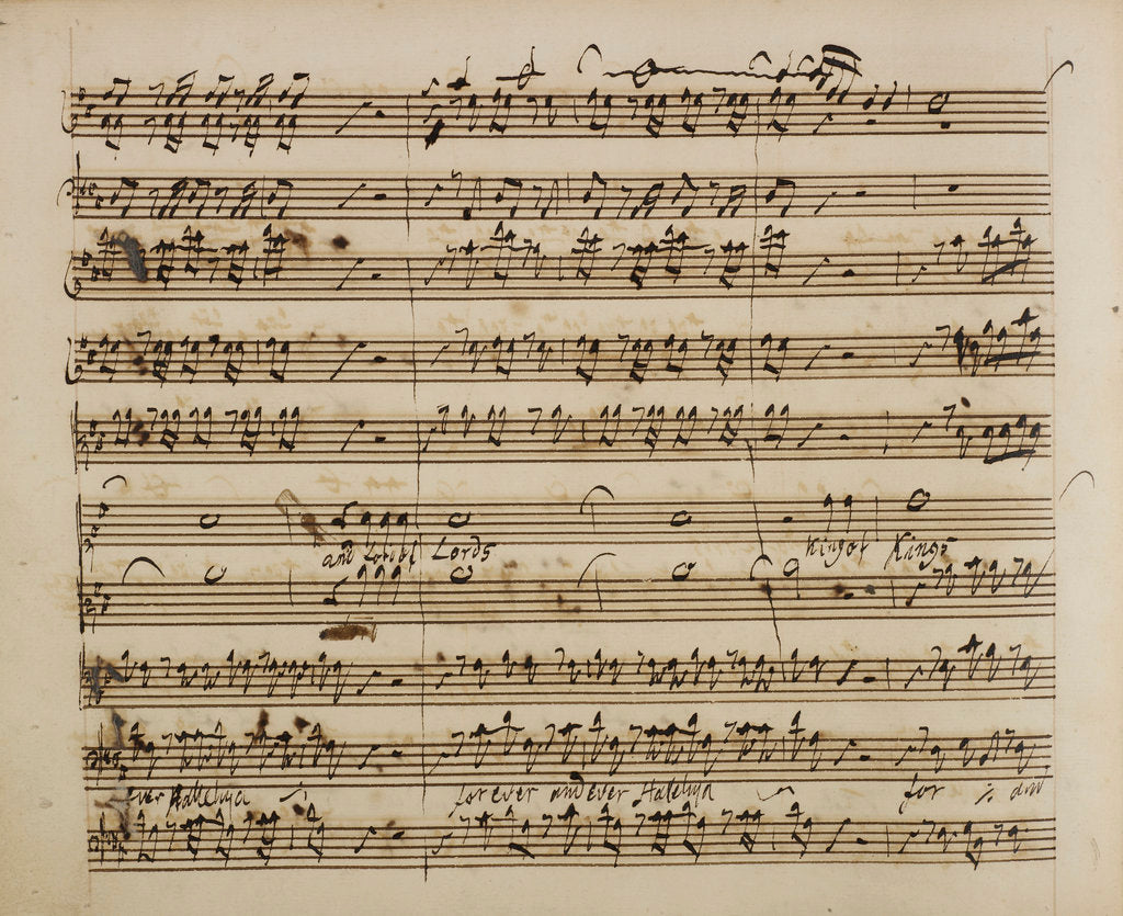 Detail of Handel's Messiah by George Handel