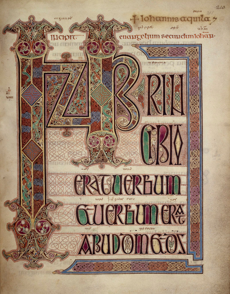 Detail of Lindisfarne Gospels by Anonymous