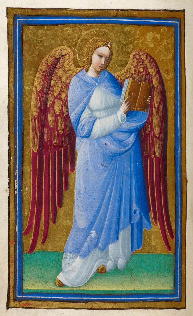 Detail of Angel with a book by Belbello da Pavia