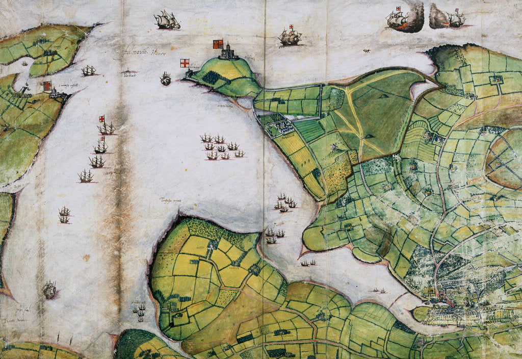 Detail of Plan of Falmouth Harbour by Anonymous