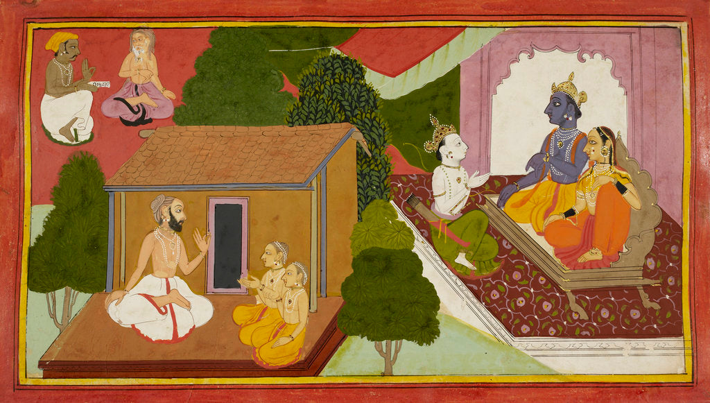 Detail of Valmiki teaches the Ramayana by Anonymous