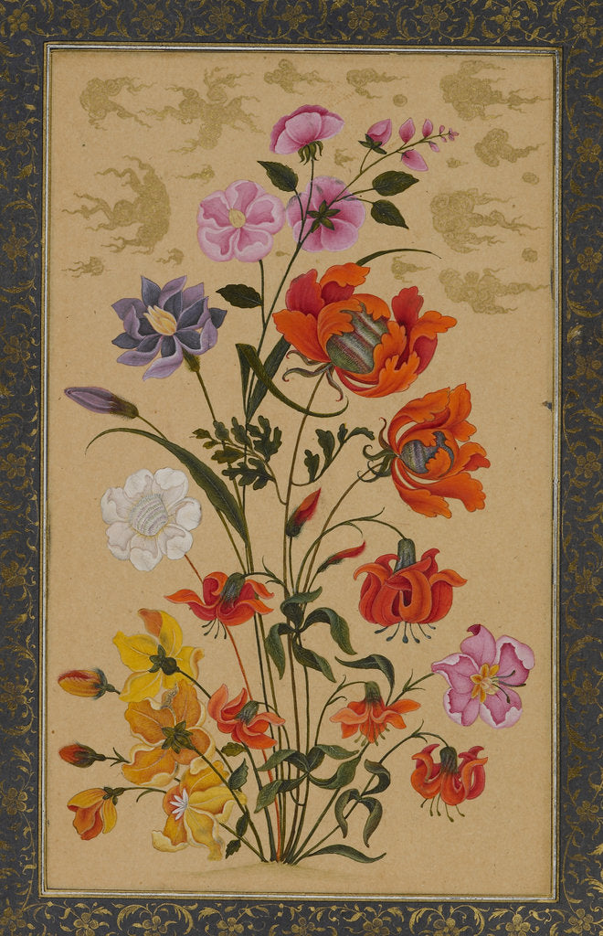 Detail of Exotic flowers by Muhammad Khan