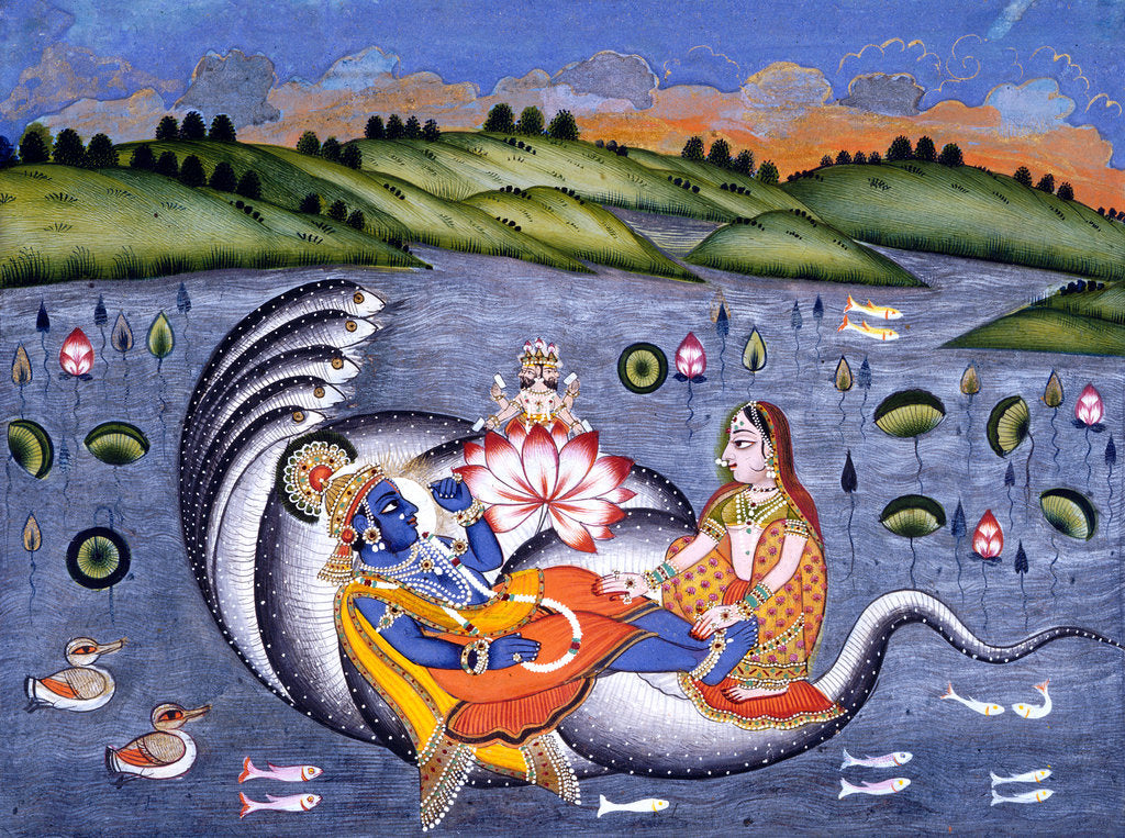 Vishnu and Lakshmi by Anonymous