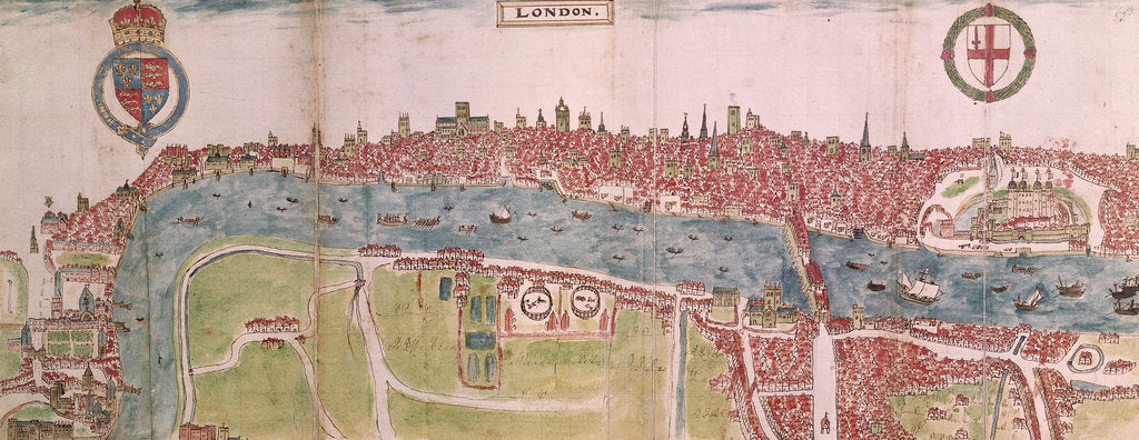 Detail of London panorama by Anonymous