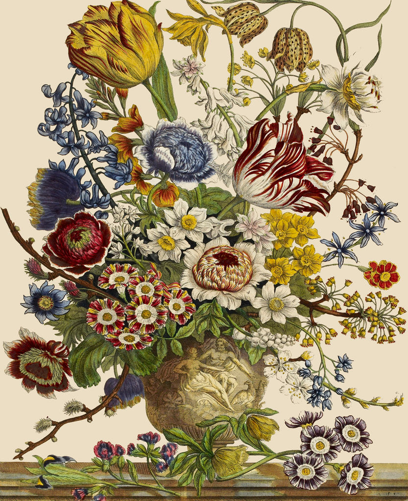 Detail of Flowers in a vase by Pieter Casteels