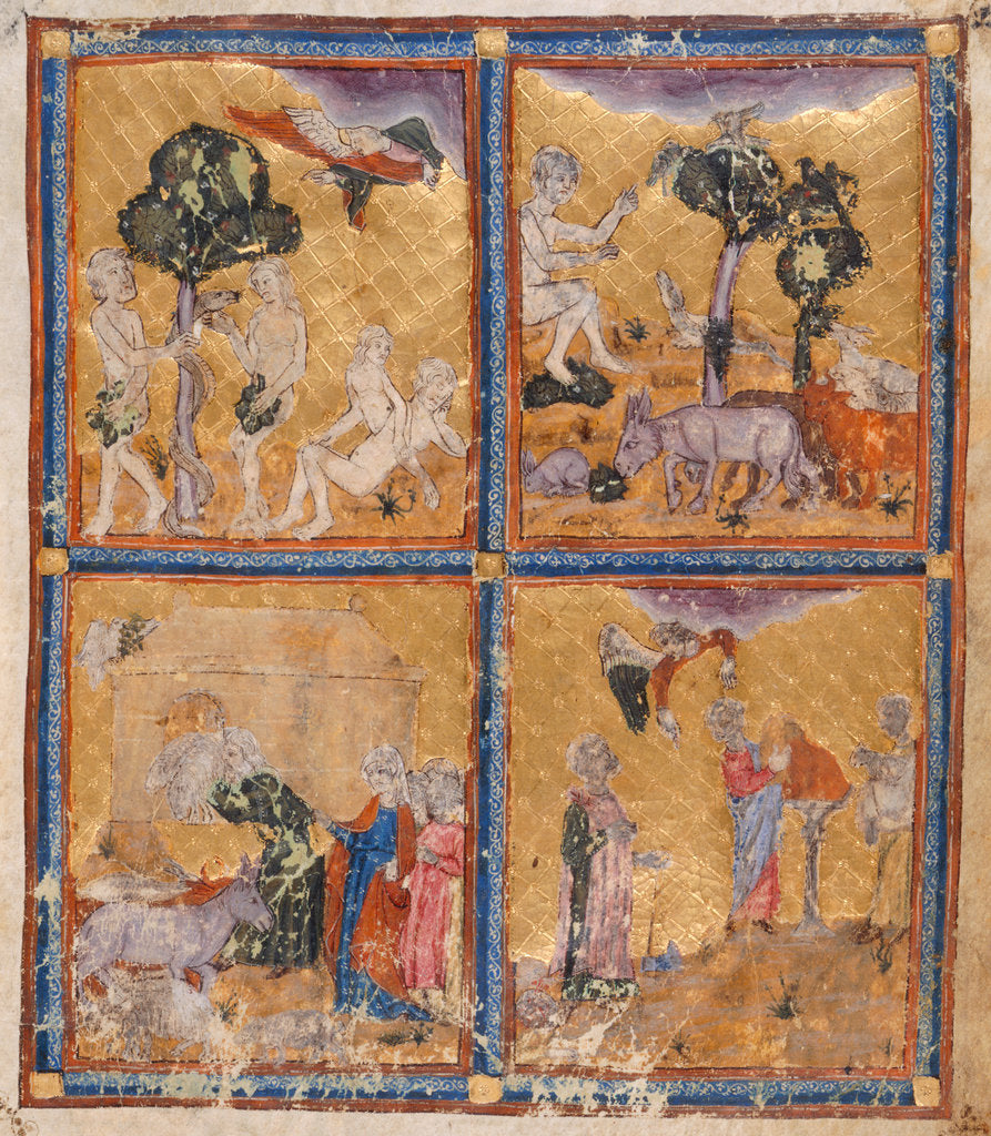 Detail of Scenes from Genesis by Anonymous
