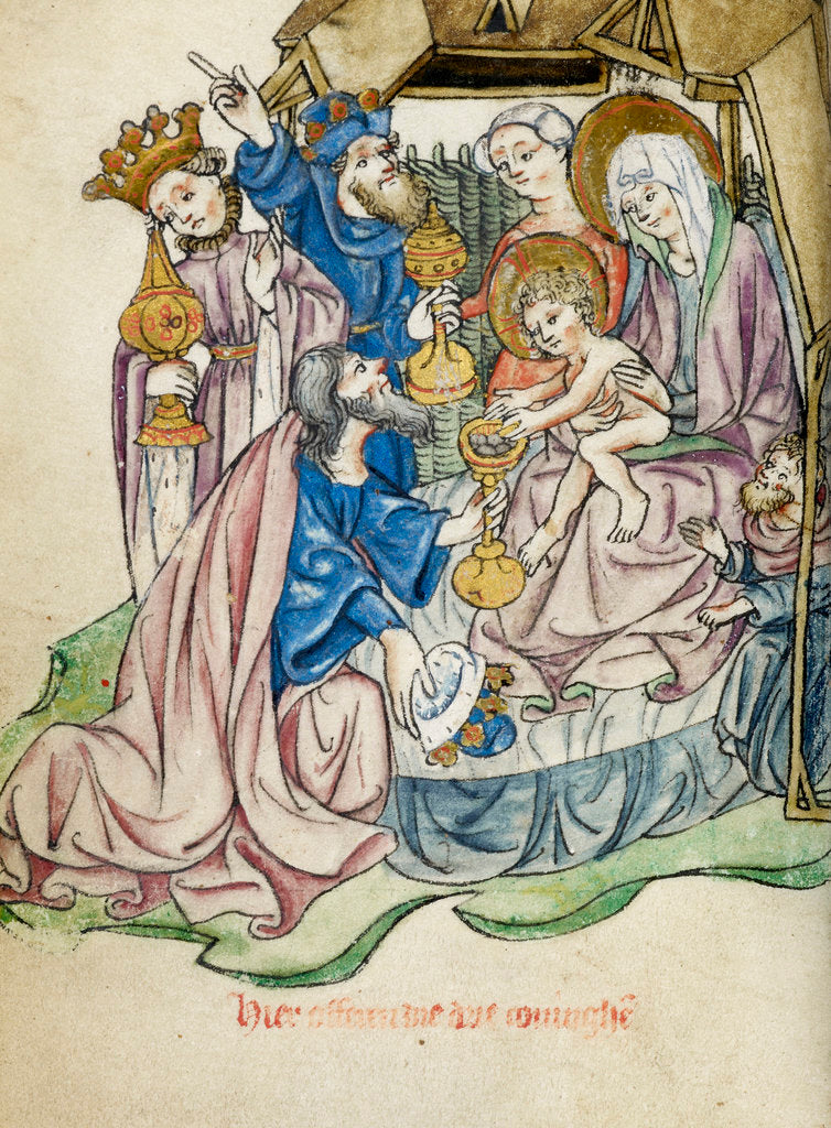 Detail of Adoration of the Magi by Workshop of the Master of the Morgan Infancy Cycle