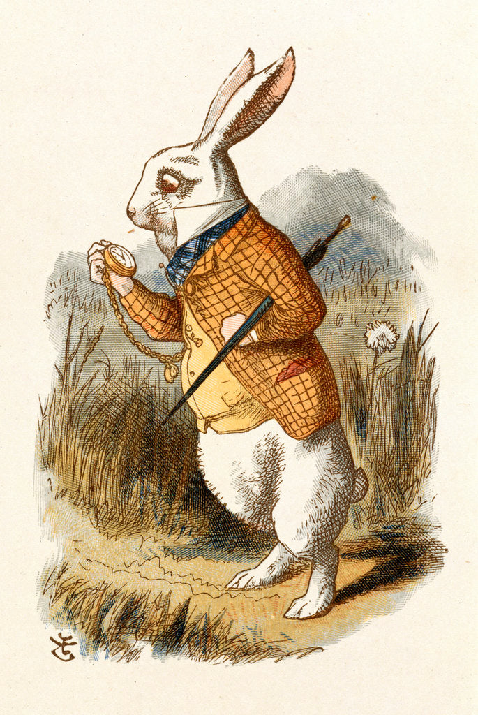 Detail of The White Rabbit by John Tenniel