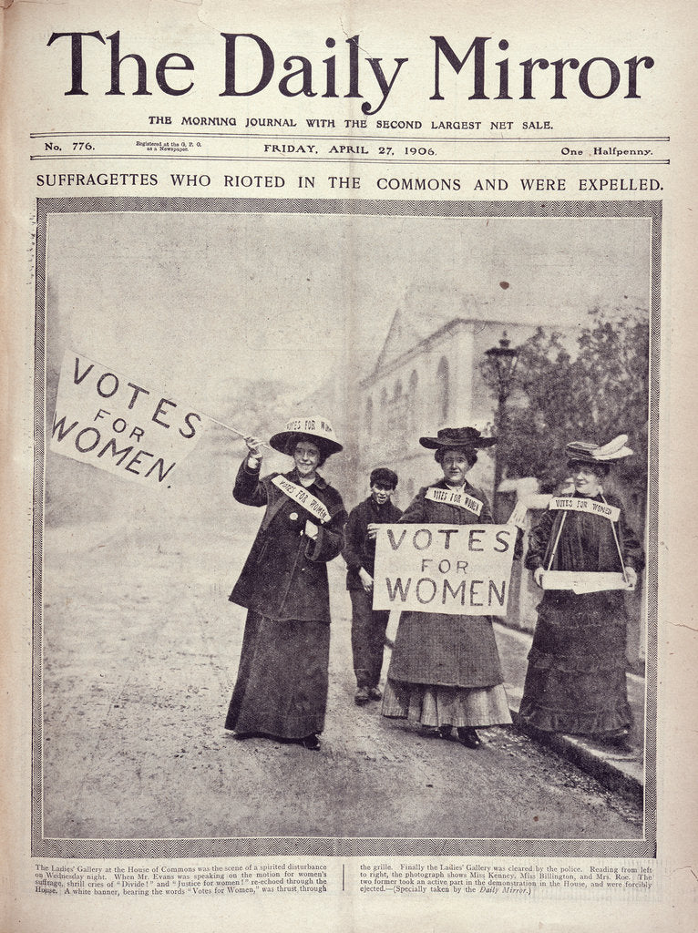 Detail of Votes for Women Daily Mirror by Daily Mirror
