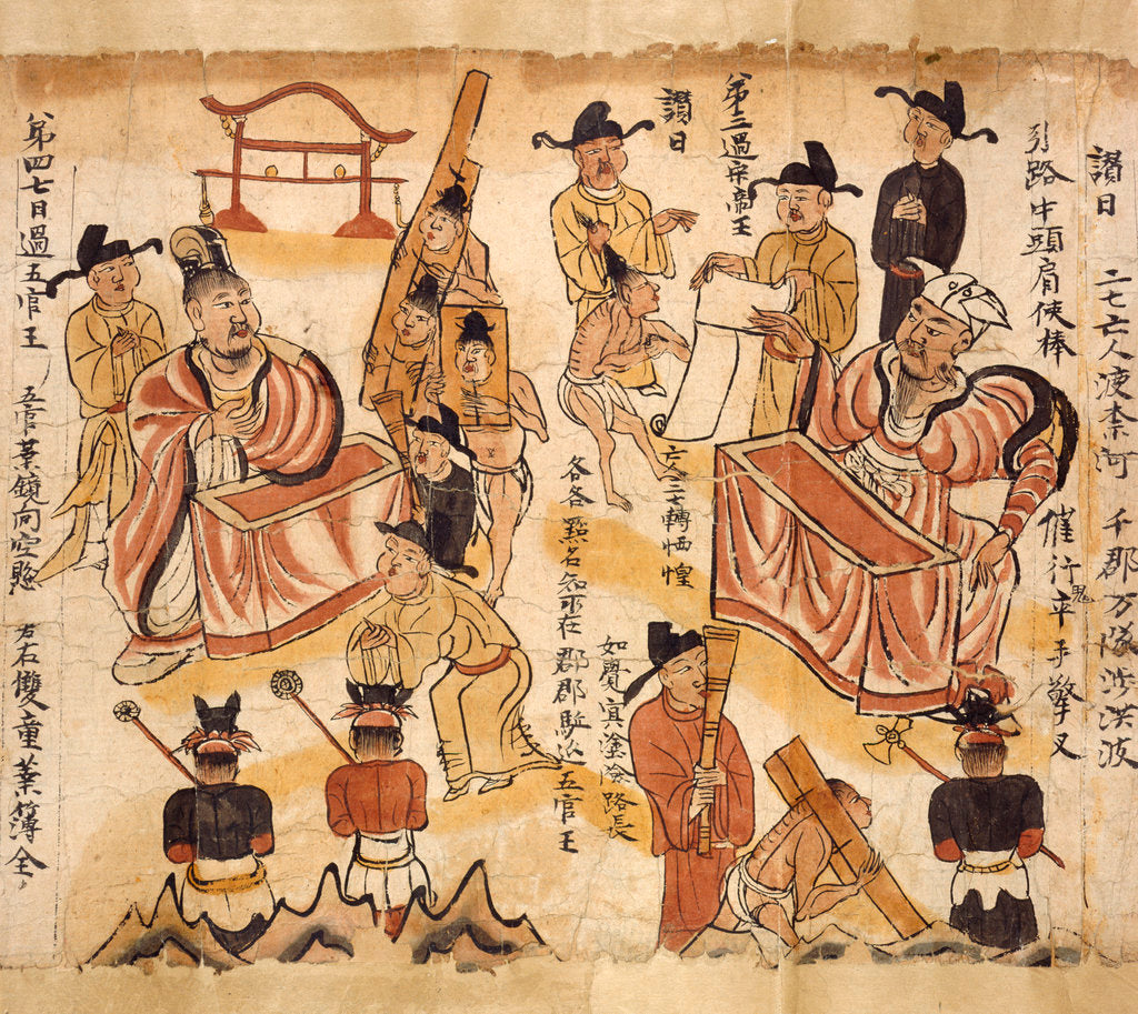 Detail of Sutra of the ten kings by Anonymous