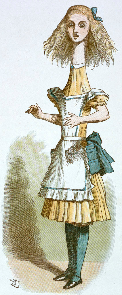 Detail of Alice growing by John Tenniel