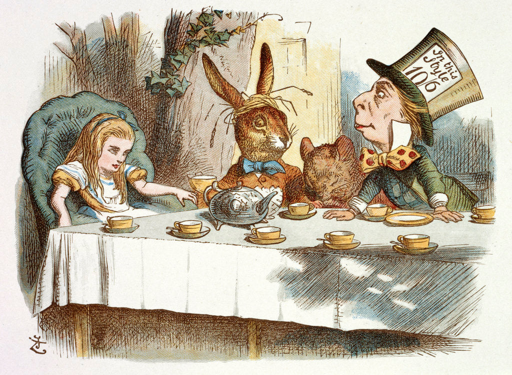 Detail of The Mad Hatter's tea party by John Tenniel