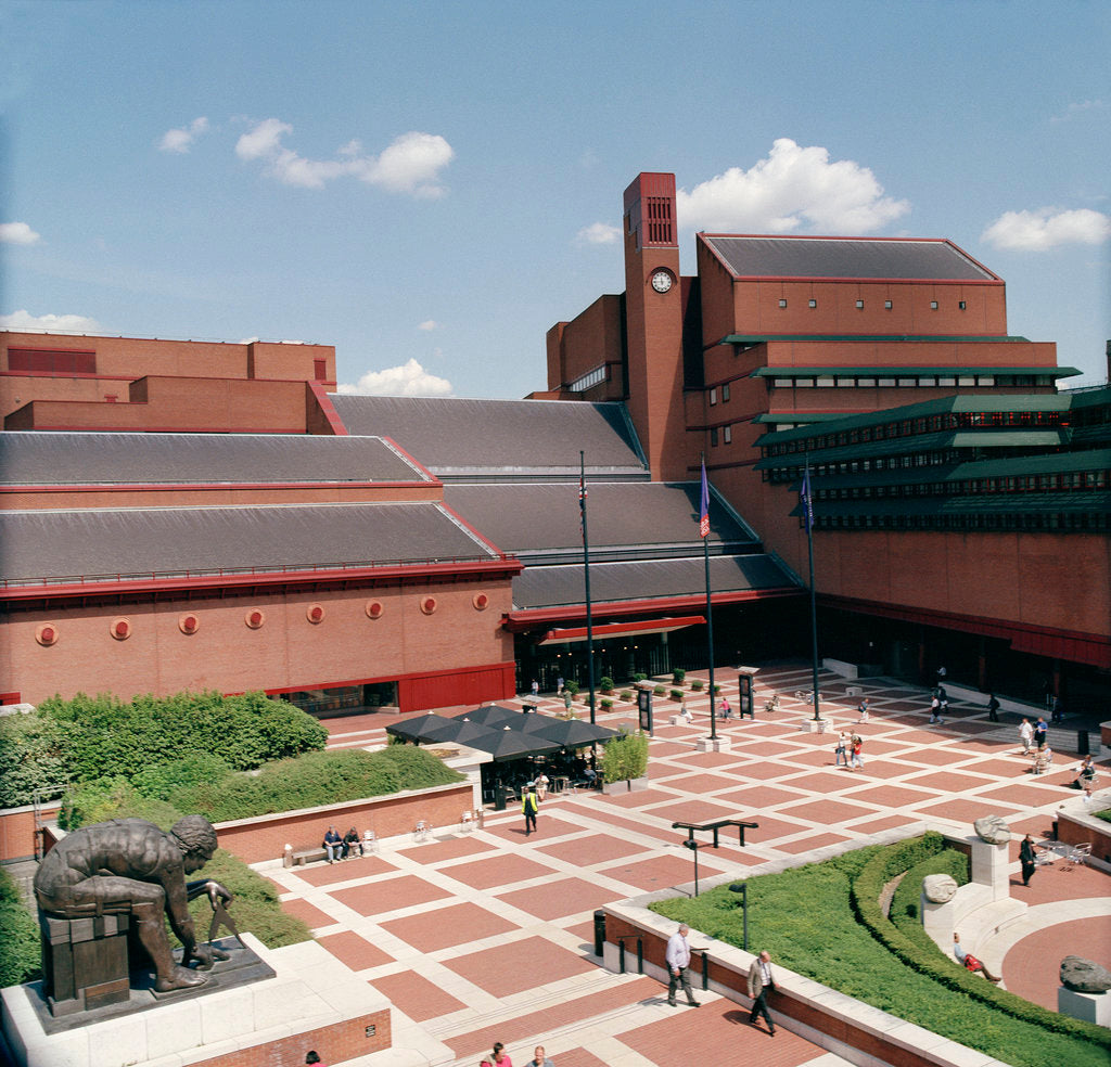 Detail of The British Library piazza by The British Library