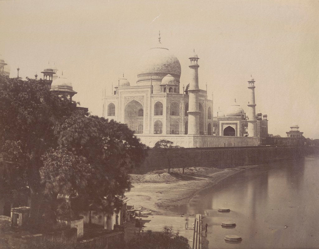 Detail of View of the Taj Mahal from the banks of the Jumna by Anonymous