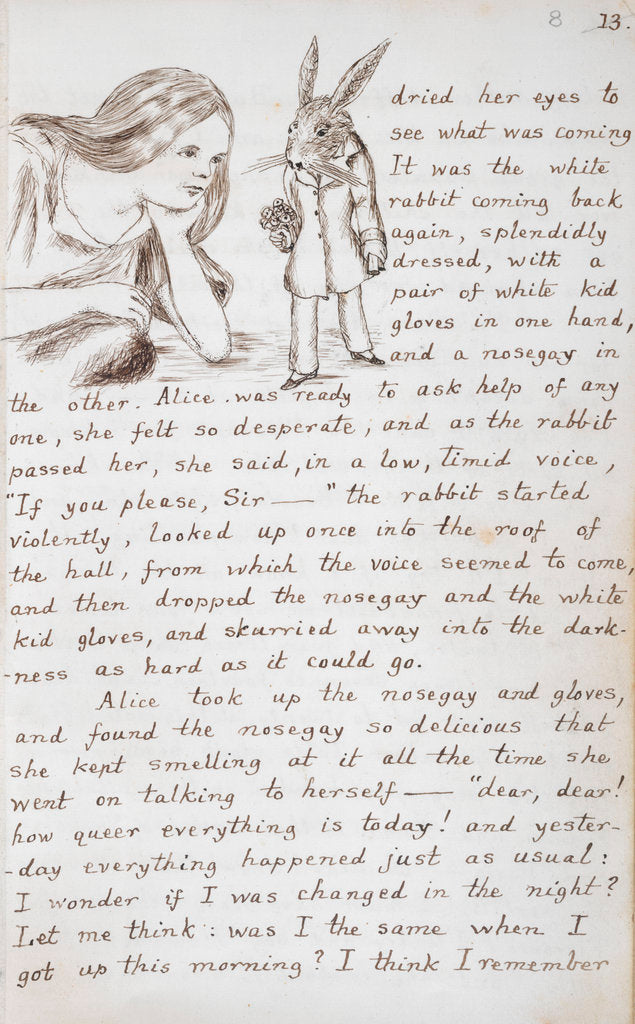 Detail of Alice and the White Rabbit by Lewis Carroll