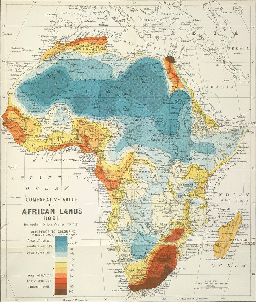 Detail of Africa by Arthur Silva White