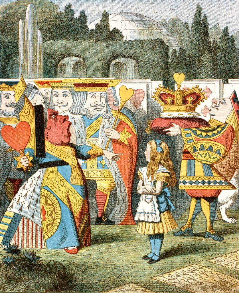 Detail of The angry Queen of Hearts by John Tenniel