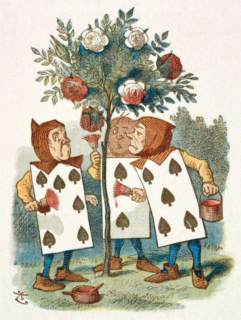 Detail of The playing cards by Sir John Tenniel