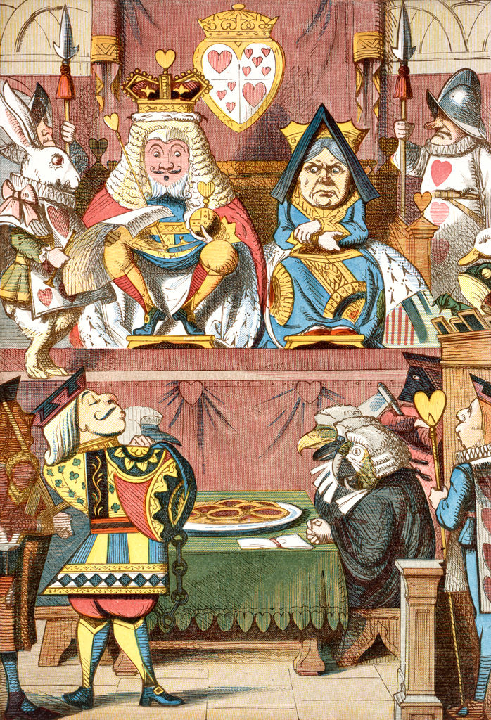 Detail of Inspecting the tarts by John Tenniel