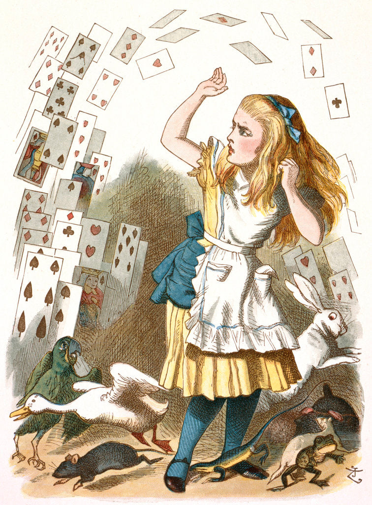 Detail of The shower of cards by John Tenniel