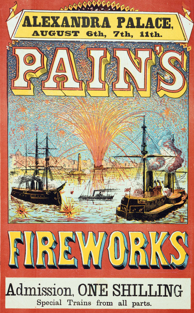 Detail of Pain's Fireworks by Anonymous