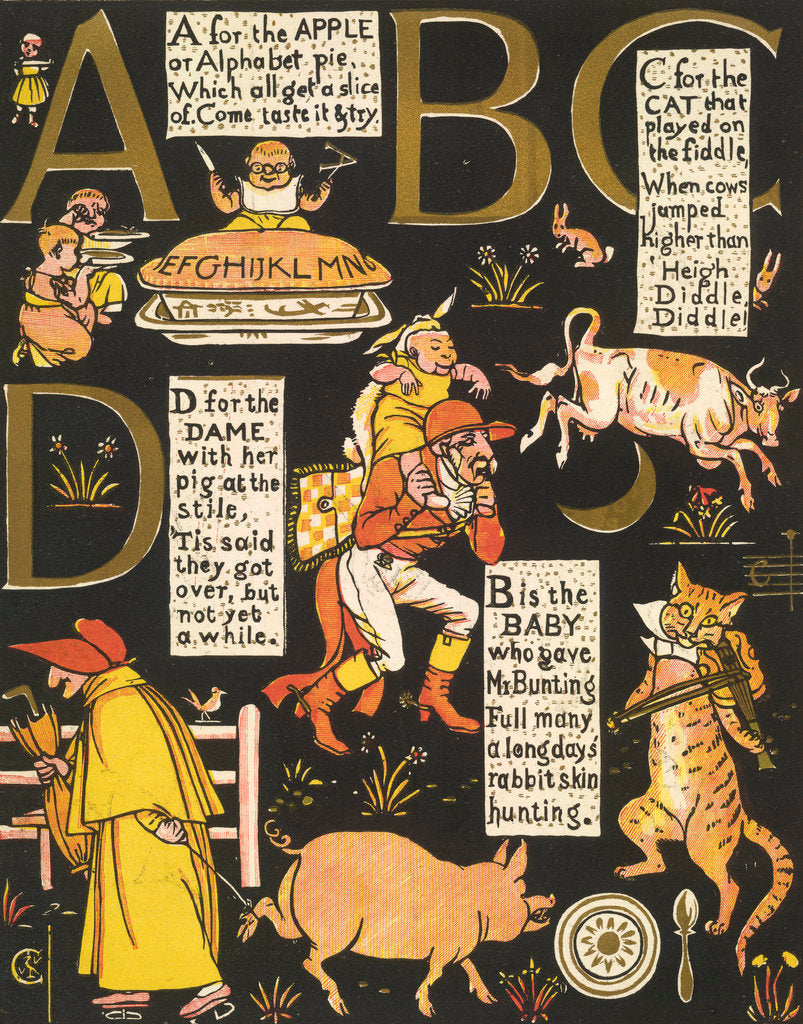 Detail of The Absurd ABC by Walter Crane