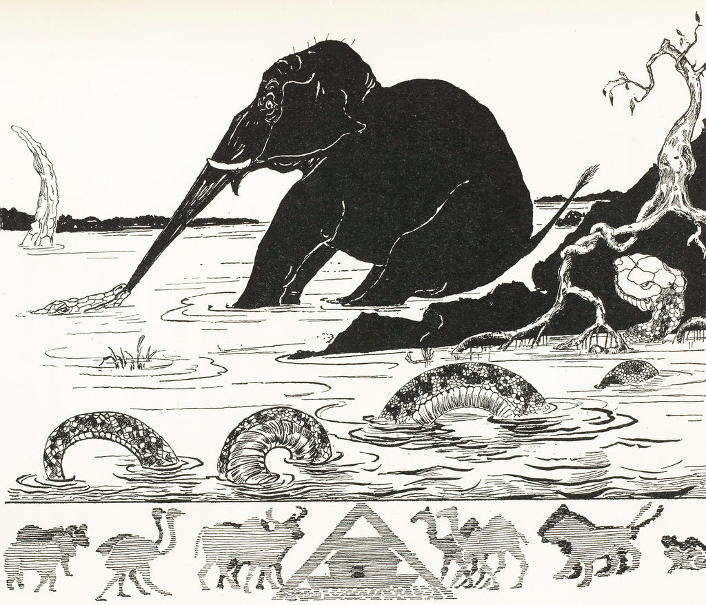 Detail of The Elephant's Child by Rudyard Kipling