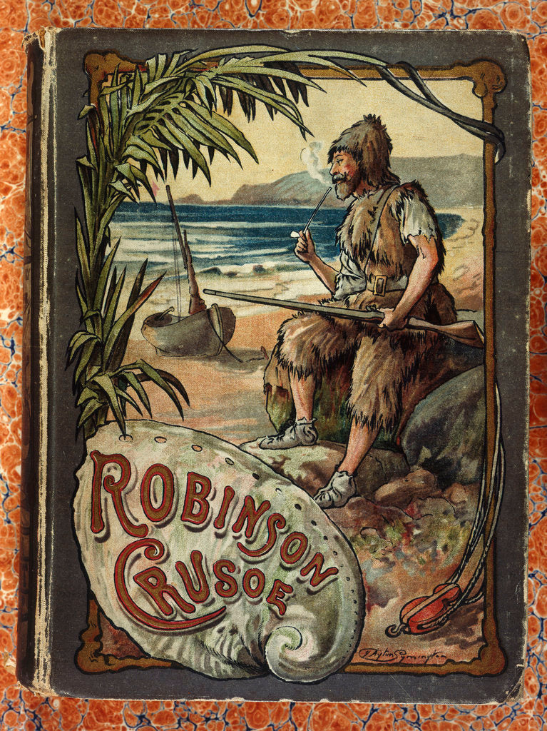 Detail of Robinson Crusoe by J. Ayton Symington