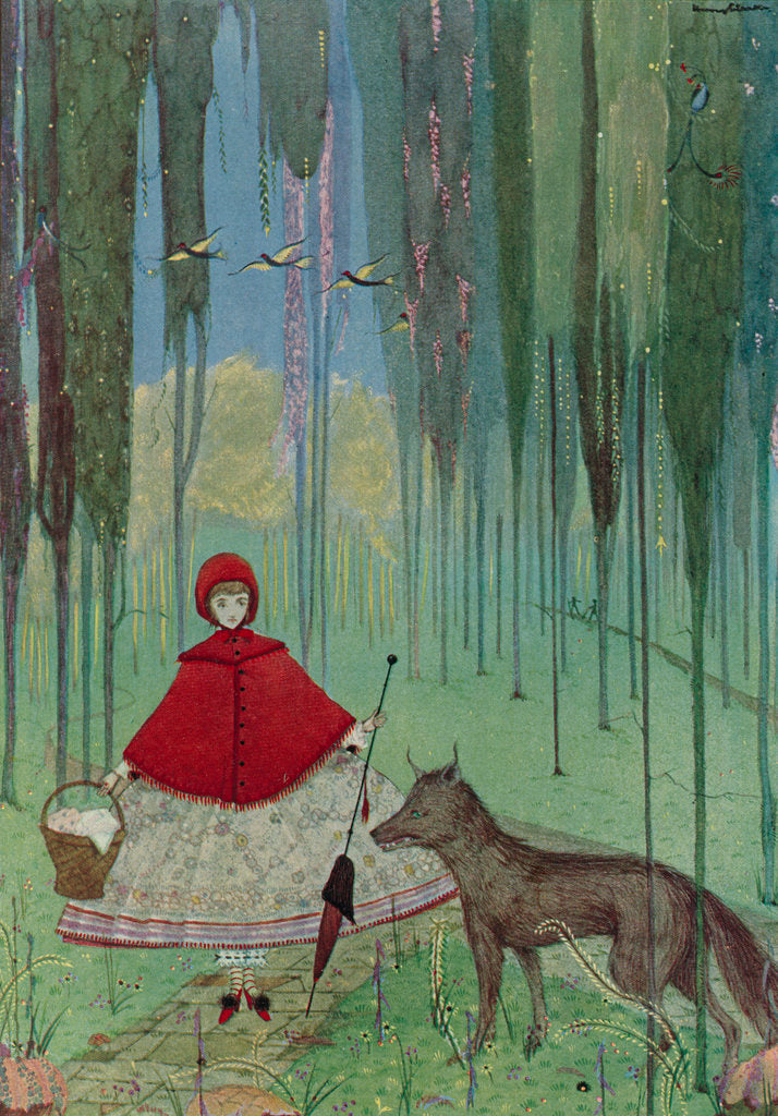 Detail of Little Red Riding Hood by Harry Clarke