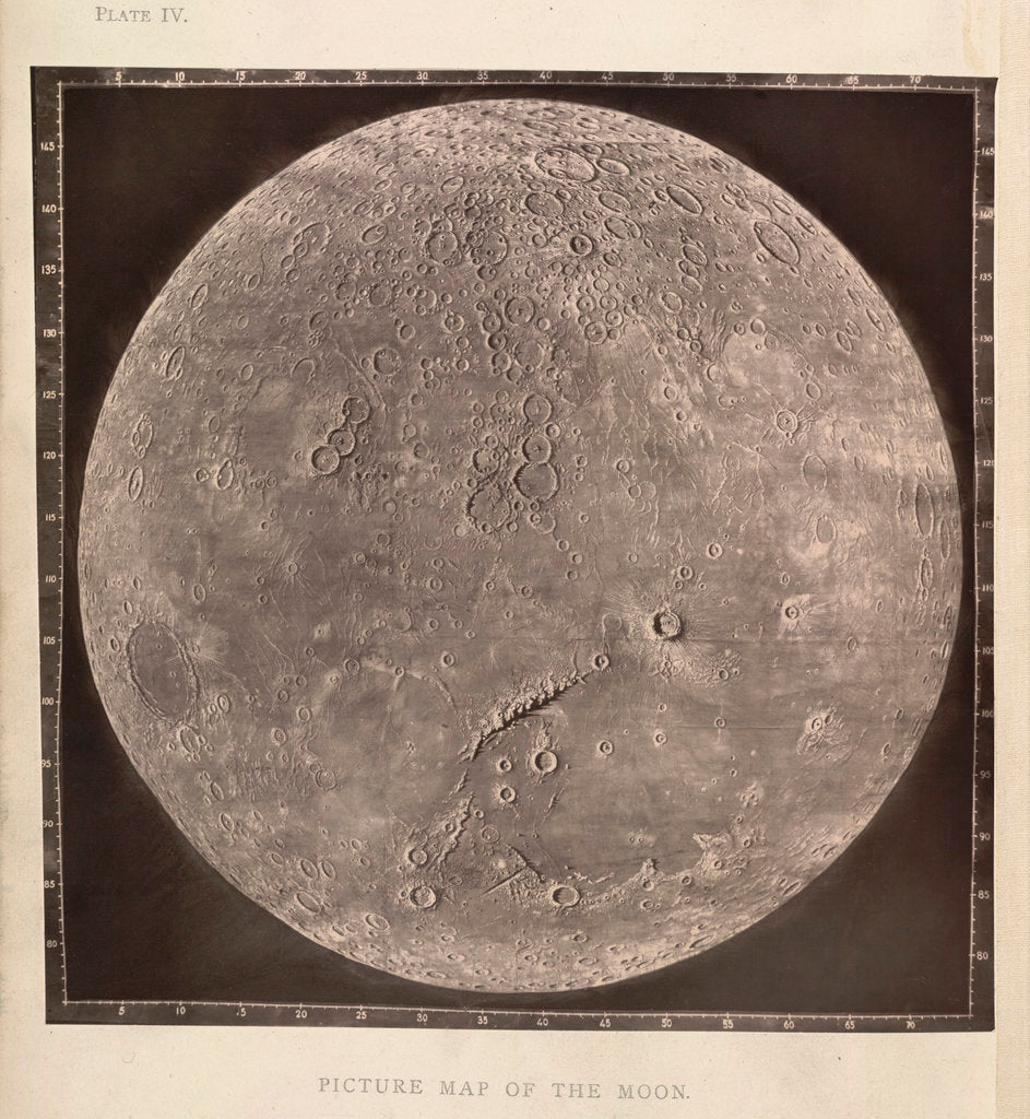 Detail of Map of the Moon by James Nasmith