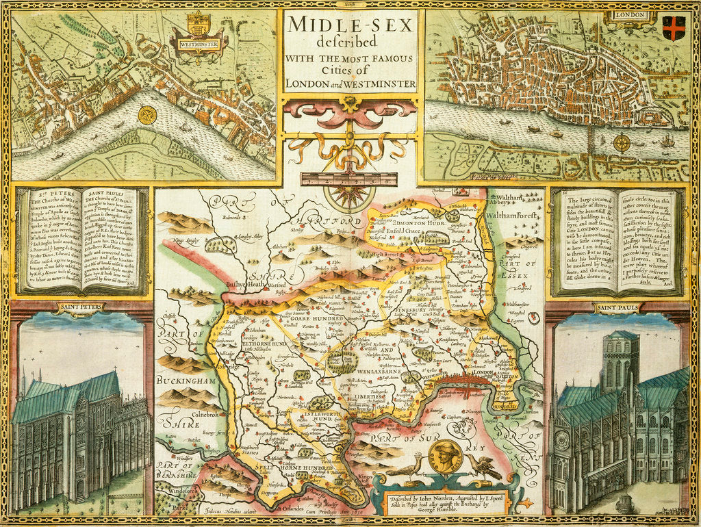 Detail of Map of London and Middlesex by John Speed