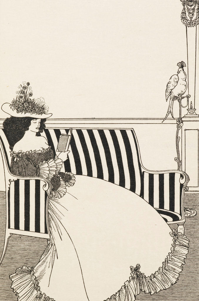Detail of Woman reading by Aubrey Beardsley