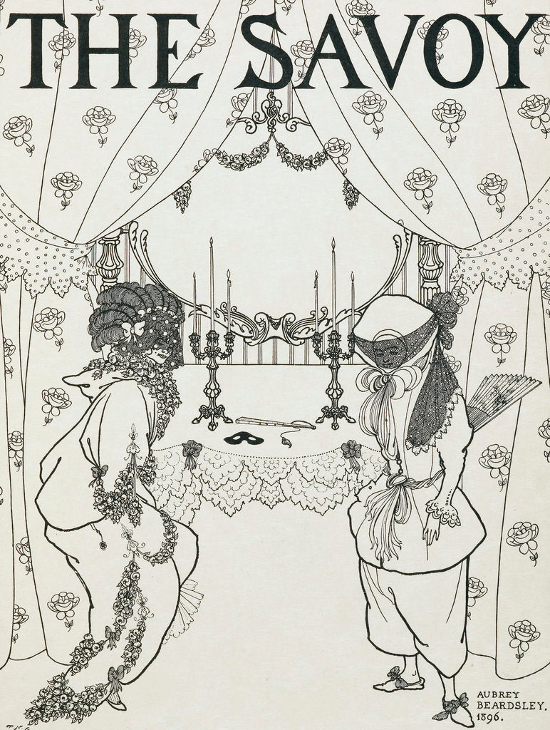 Detail of The Savoy by Aubrey Beardsley