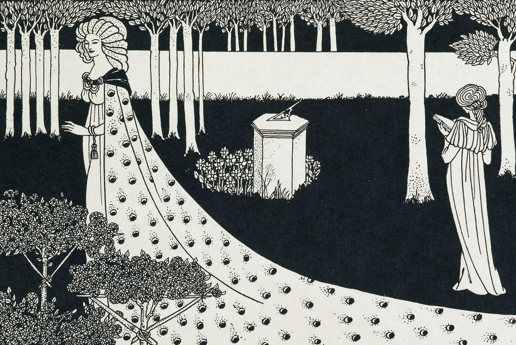 Detail of La Beale Isoud at Joyous Gard by Aubrey Beardsley