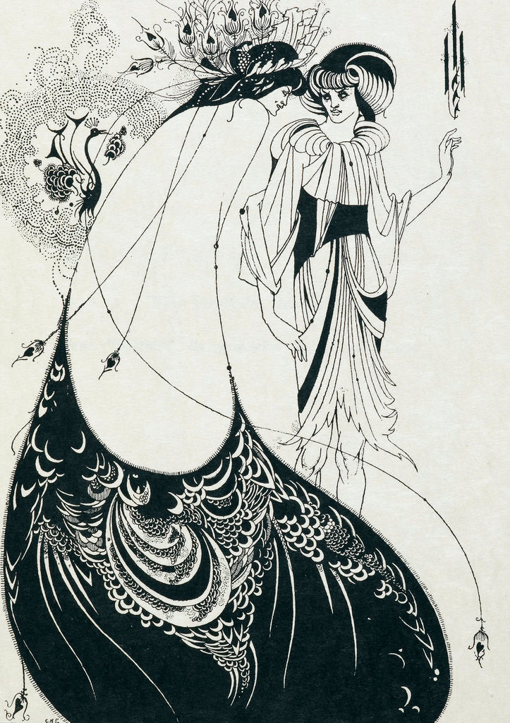 Detail of The Peacock skirt by Aubrey Beardsley