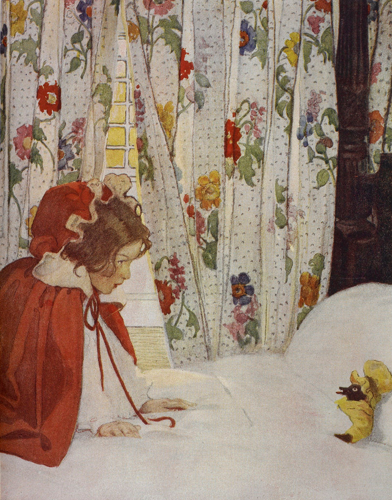 Detail of Little Red Riding Hood by Jessie Willcox Smith