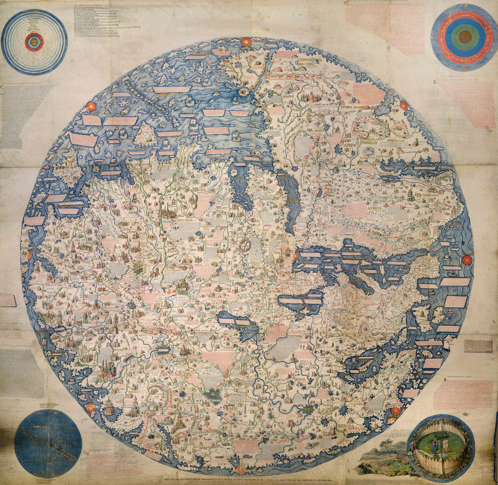 Detail of Mappa Mondo by William Frazer