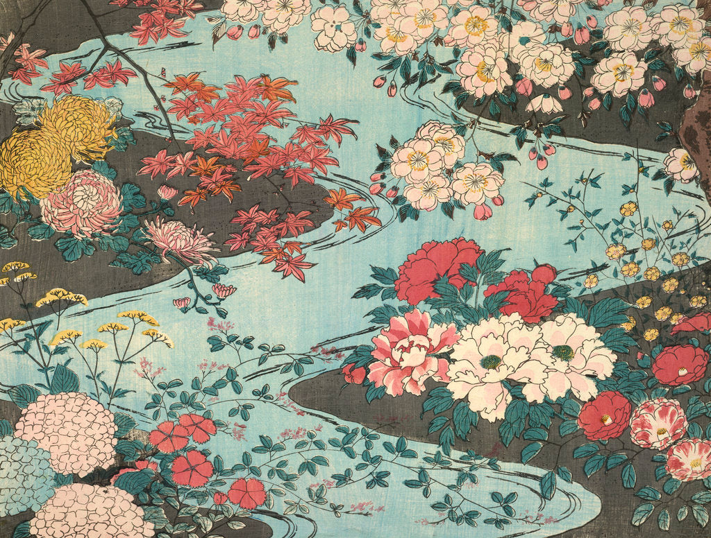 Detail of Flowers and water by Anonymous